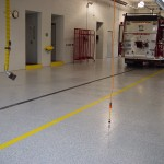 Decorative Flake System firehall floor