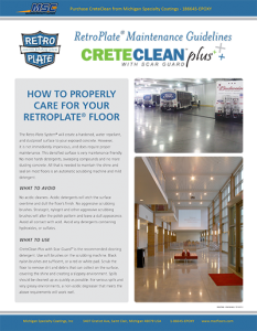 How to Properly Care for your Polished Concrete Floor
