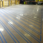 Polished Concrete with OSHA Line Striping