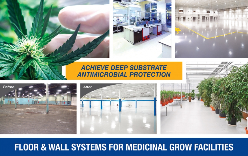 grow room and extraction room flooring