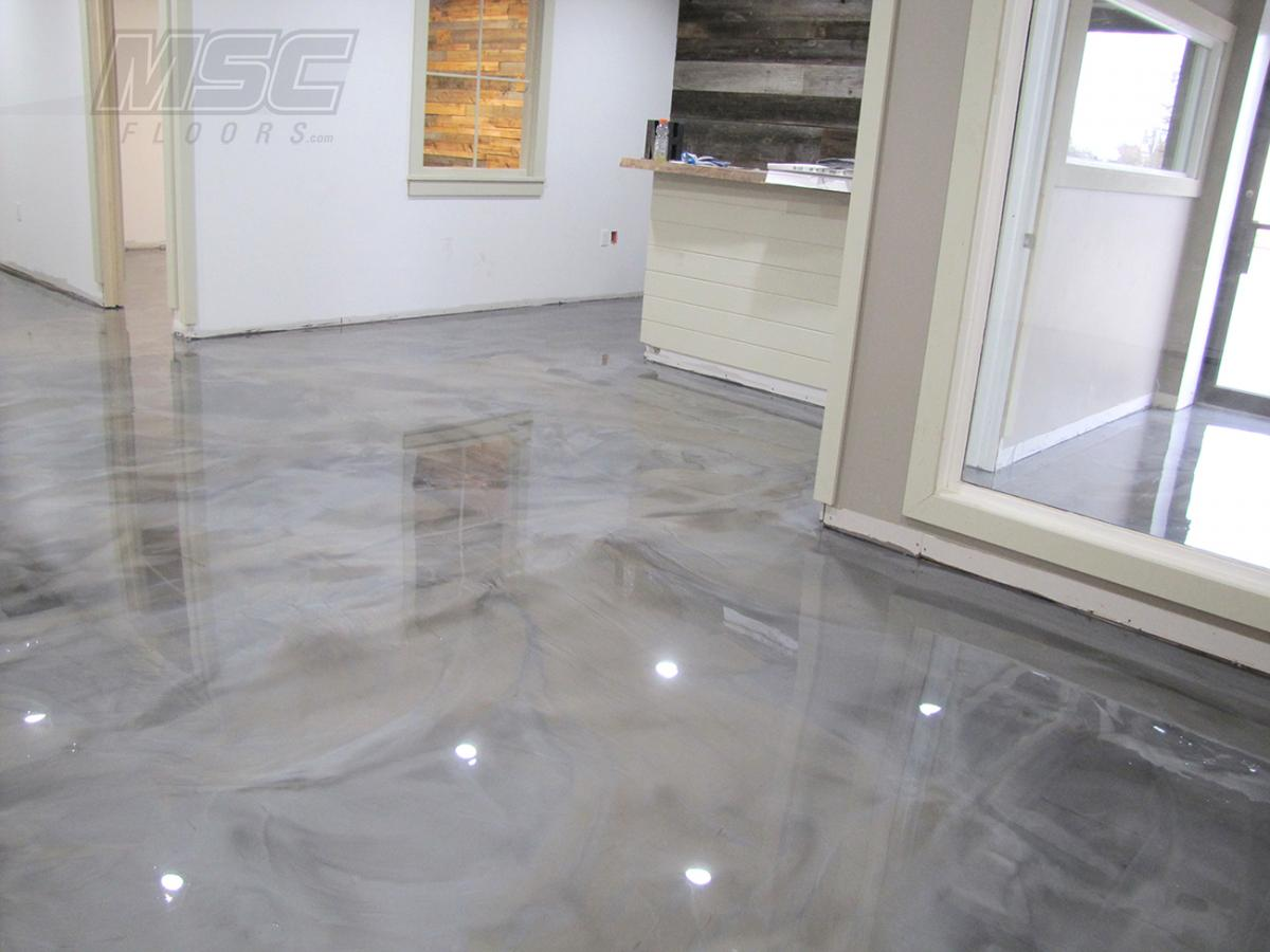 Metallic epoxy floor systems by michigan specialty coatings for 1 floor