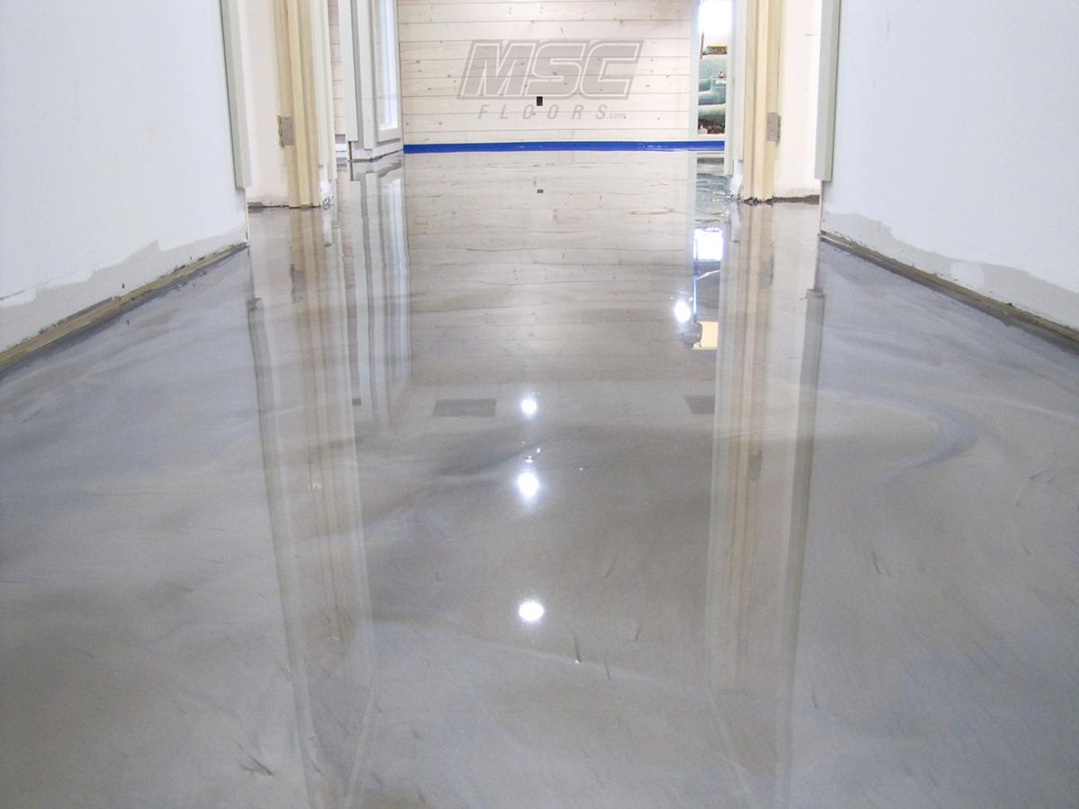 Metallic epoxy floor systems by michigan specialty coatings for Epoxy flooring