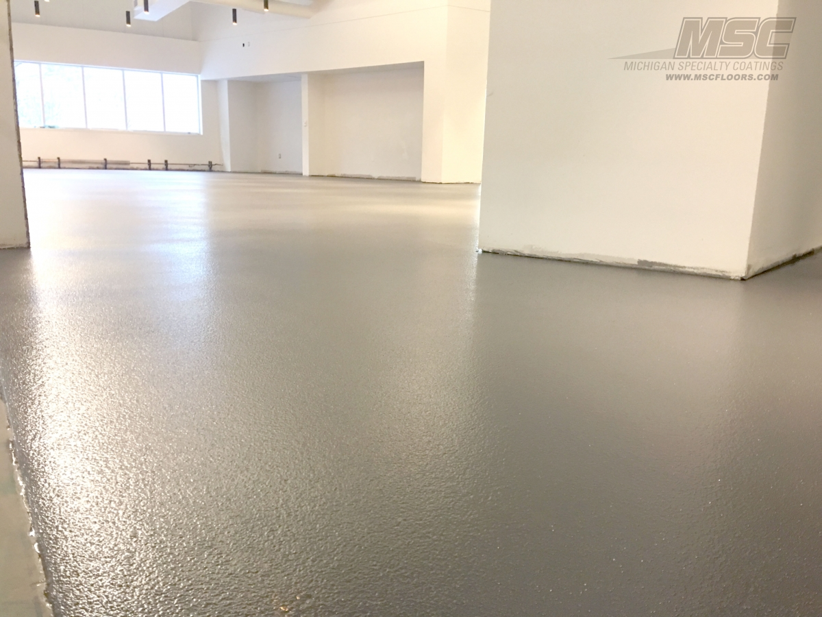 Decorative Quartz Flooring By Michigan Specialty Coatings