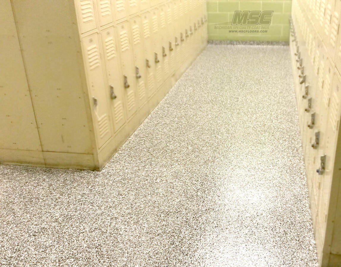 Locker Room Flooring Epoxy