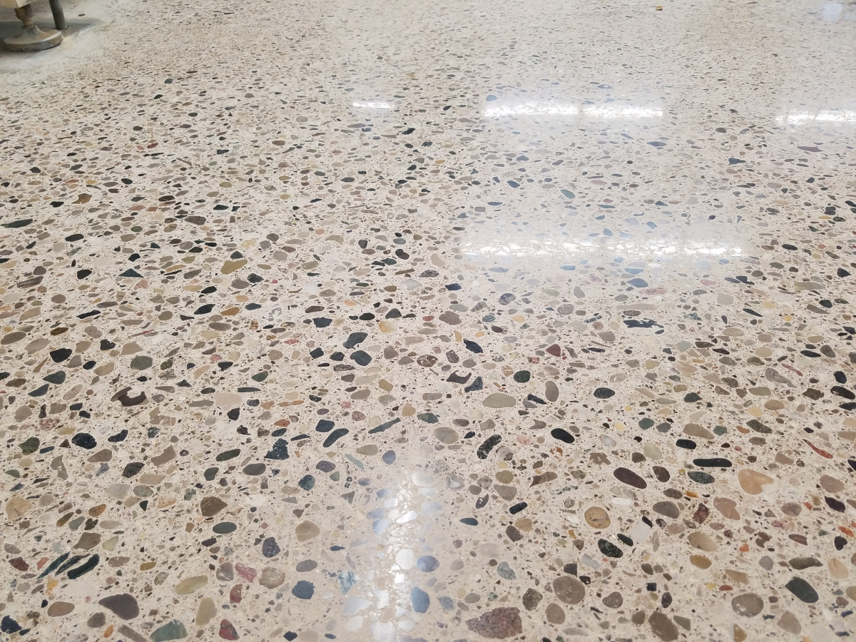 Polished concrete installation in michigan ohio indiana for Exposed concrete floor