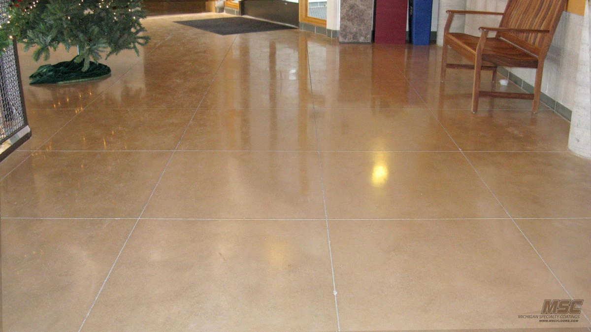 Polished Concrete Installation In