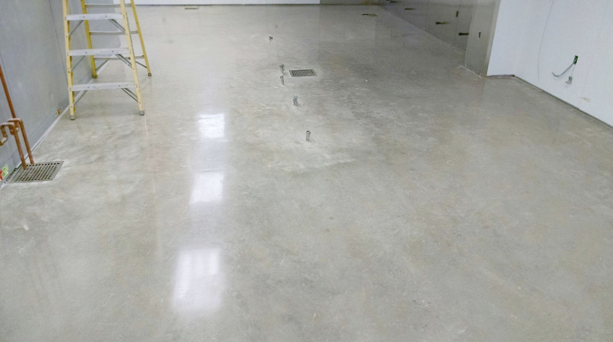 Commercial industrial flooring solutions photo gallery for Buffing stained concrete floors