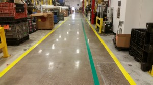 Polished Concrete Aisle Ways in Warehouse
