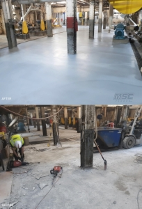 Before and After Urethane Slurry Flooring System