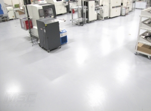 ESD Flooring in Facility that manufacturers parts for Autonomous Vehicles