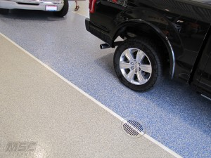 Epoxy Floor Coating at Auto Dealership Floor