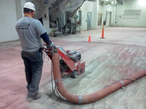 Shot Blasting to prep concrete surface