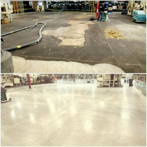 concrete polish before and after