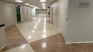 concrete polish with grout lines