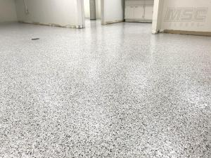 Full Flake Floor with Polyaspartic Topcoat