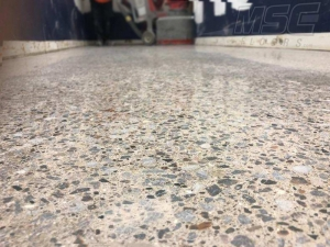 Exposed Aggregate Concrete Polish at Airport