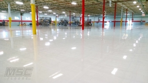 Industrial Epoxy Flooring with High Gloss Topcoat