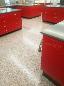 Commercial Epoxy Flooring in Lab Room - Wyandotte, Michigan