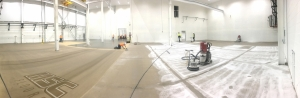 Panoramic Shot of epoxy floor preparation