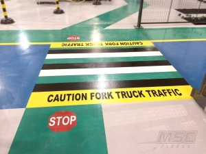 Pedestrian Crosswalk Coating at Automotive Facility