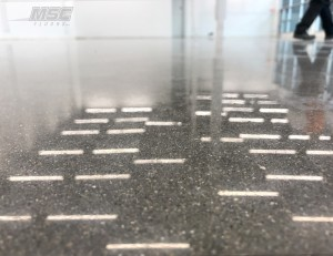 Close up of Polished Concrete Flooring in Commercial Space