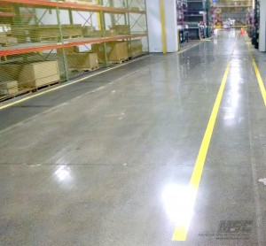 Polished Concrete with Line Striping