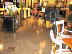Polish Concrete Floor in Furniture Store