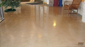 Polished Concrete with Colored Stain Added