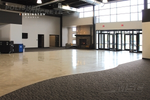 Kensington Church - Clinton Township, MI - Commercial Concrete Polish - Finished with 800 Grit