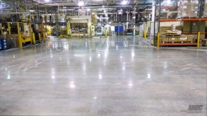 Polished Concrete Factory Floor