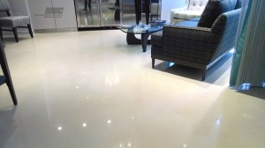 Polished Concrete Waiting Room