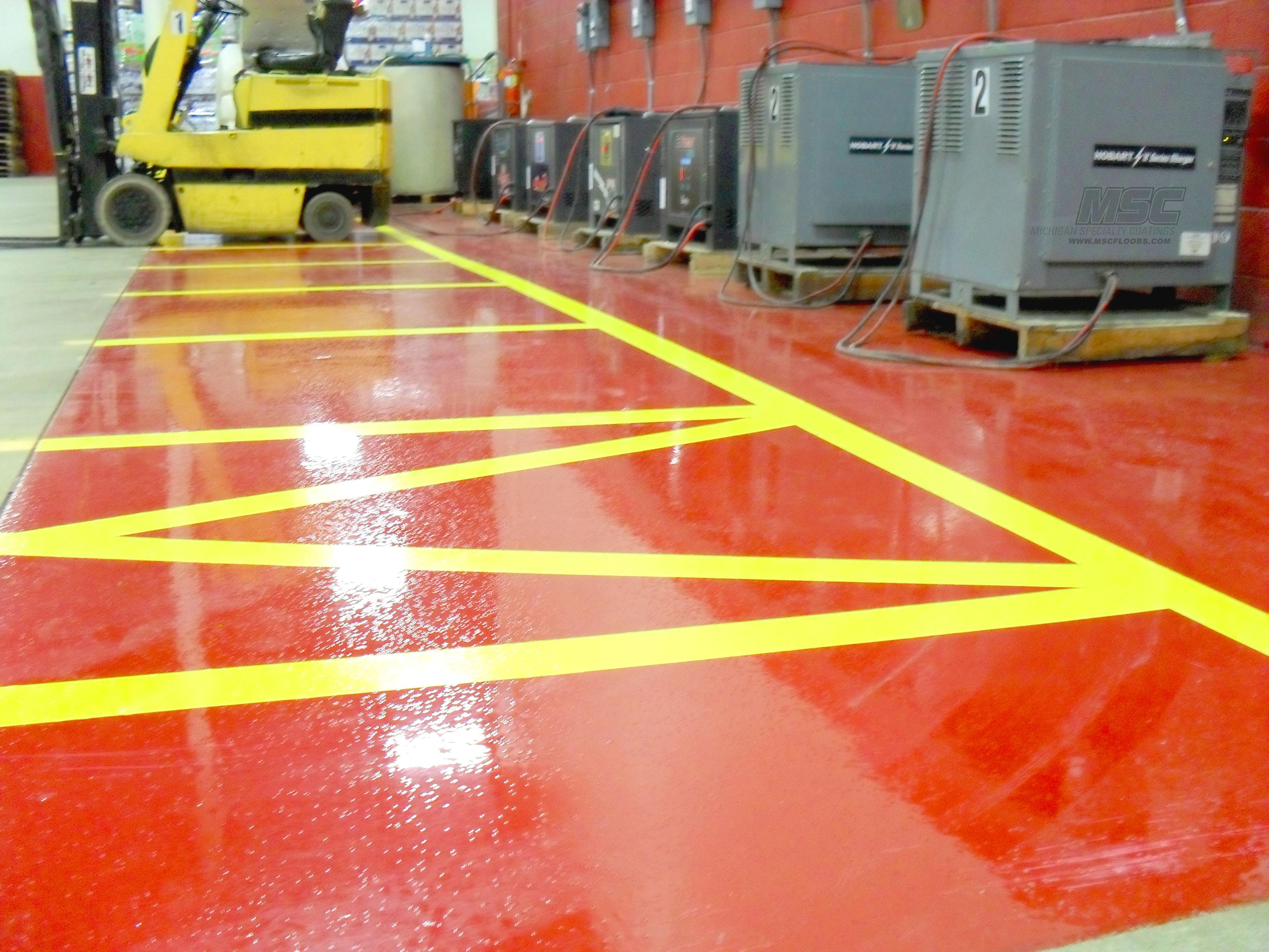 Osha Floor Elevation Change : Osha concrete floor striping standards in michigan