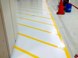 ESD Floor with Line Striping