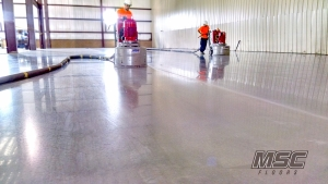 Installation of Polished Concrete with (2) Diamatic 780Pro Grinder/Polishers