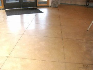 Polished Concrete - Stained and Tiled