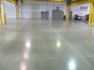 Polished Concrete Gray Stain
